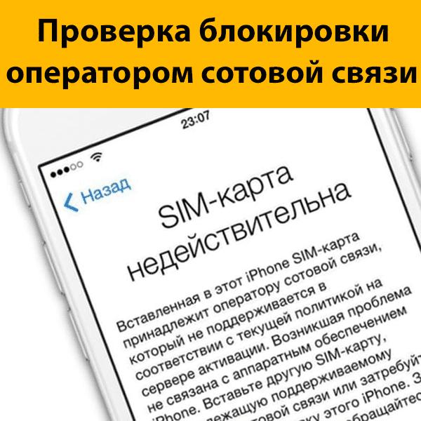 Проверка статуса блокировки iPhone оператором сотовой связи