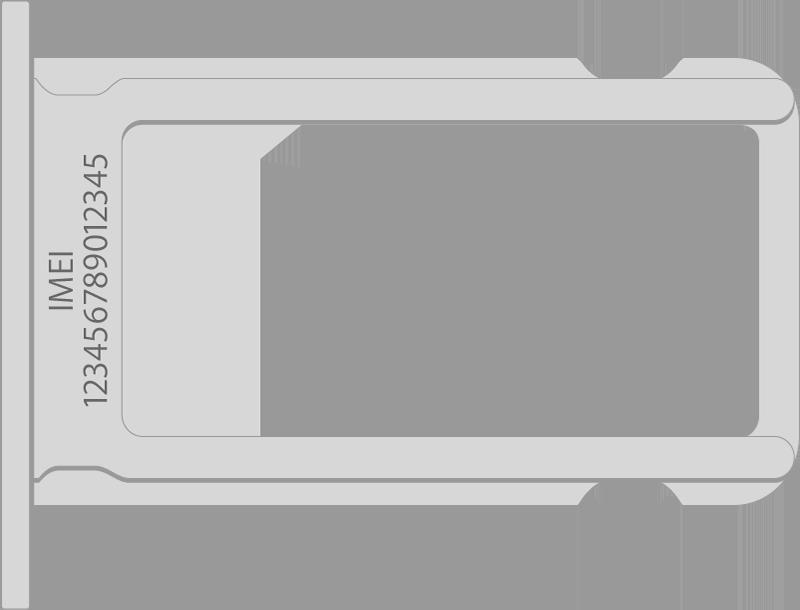 IMEI номер Айфона расположен на СИМ-лотке